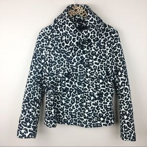 Forever 21 Jacquard Animal Print Pea Coat